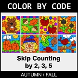 Fall Color by Code - Skip Counting by 2, 3, 5