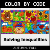 Fall Color by Code - Solving Inequalities with Addition &