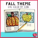 Pumpkin Color by Code: Word Families