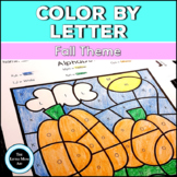 Fall Color by Letter | Alphabet Coloring Pages