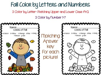 Fall Color by Letter & Number