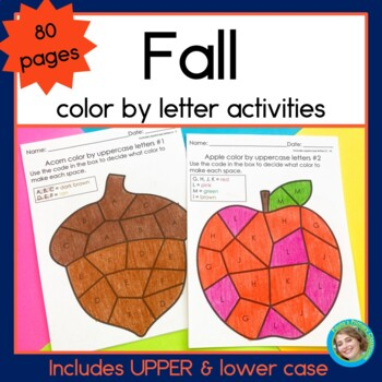 Fall Color by Letters 80 NO PREP pages
