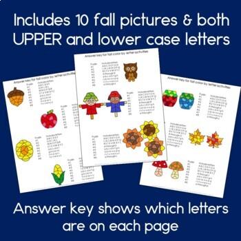 Fall Alphabet Worksheets