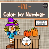 Fall Color by Number *Addition & Subtraction*