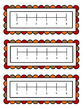 Fall Color by Number Addition to 5