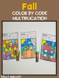 Fall Color by Number Multiplication Facts