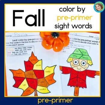 Fall Color by Words preprimer level NO PREP