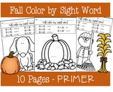 Fall Color by Sight Word - PRIMER