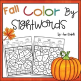 Color by Sight Word Fall