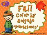 Fall - Color by Solfege - Pentatonic Practice - do, re, mi, so, la