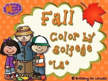 Fall - Color by Solfege - So, La, Mi Practice