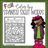 Fall Color by Spanish Sight Words