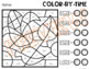 Fall Color-by-Time: Time Worksheets