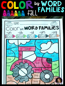 Fall Color by Word Families Activities