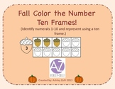 Fall Color the Number Ten Frame