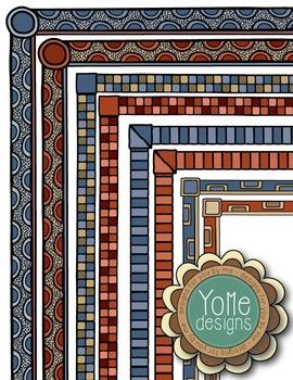 Fall Colored Clip-art Frames
