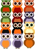 Autumn Owl Clipart (Personal and Commercial use)