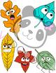 Fall Colorful Emoji Leaves - Digital Reward (VIPKID)