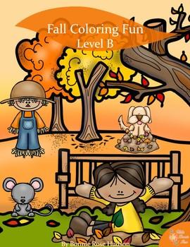 Fall Coloring Fun-Level B