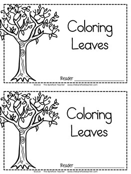 Fall 'Coloring Leaves' Emergent Reader {A Color Words Activity}