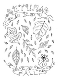 Fall Coloring Page Free