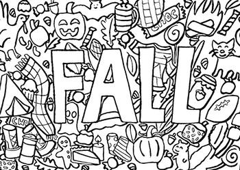 Fall Coloring Page Printable