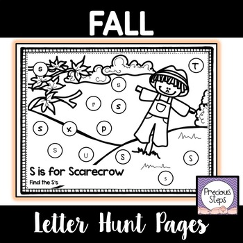 Fall Letter ID Coloring Pages