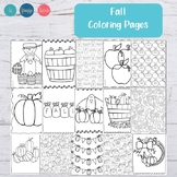 Fall Coloring Pages - Autumn Coloring Pages