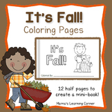 Fall Coloring Pages - Create a Mini-Book!