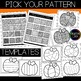 Fall Coloring Pages: Doodle Shape Pumpkin {Made by Creative Clips}