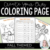 Editable Fall Coloring Pages