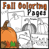 Fall Coloring Pages FREEBIE