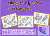 Fall Coloring Pages Funky Leaves