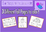 Fall Coloring Pages Set 2