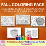 Fall Coloring Pages - Set of 5