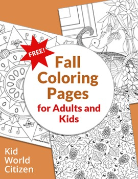 Fall Coloring Pages for Adults and Kids
