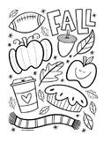 Fall Coloring Sheet