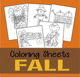 Fall Coloring Sheets