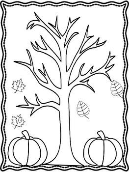 Fall Coloring Sheets