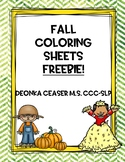Fall Coloring Sheets Freebie!