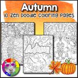 Autumn Coloring Pages, Zen Doodles