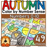 Fall Coloring Worksheets Printable Color by Number Activit