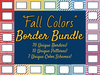 Fall Colors Borders and Frames Bundle