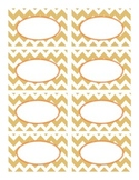 Fall Colors Chevron Labels