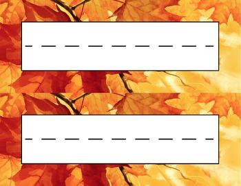 Fall Leaf Colors Desk Name Tag Plates Set By Amy Lynn