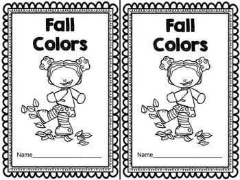 Fall Colors Emergent Reader & Centers