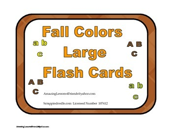 Fall Colors Large Flash Cards