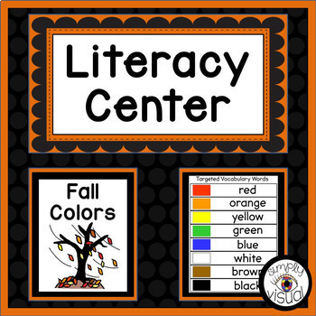 Fall Colors Literacy Center with Printable Activities