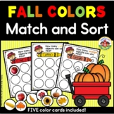 Fall Colors Match and Sorting Activity for Preschool