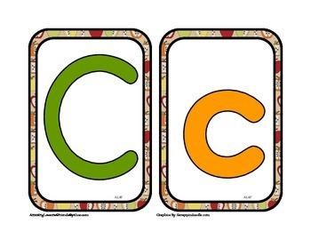 Fall Colors Medium Flash Cards